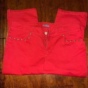 Orange Capri pants